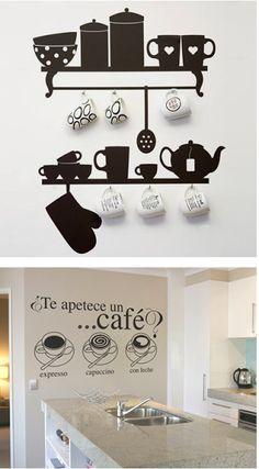 use evrything you have! Room Interior, Interior Design Living Room, Interior Decorating, Kitchen Interior, Diy Wall, Wall Decor, Wall Design, House Design, Vintage Cafe