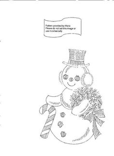 Christmas Embroidery Patterns, Embroidery Sampler, Embroidery Patterns Free, Vintage Embroidery, Embroidery Applique, Cross Stitch Embroidery, Embroidery Designs, Snowman Crafts, Snowmen