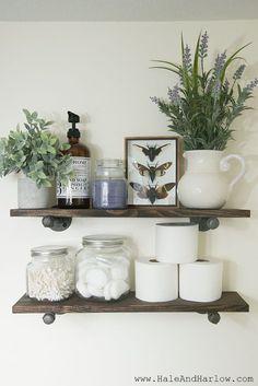 DIY Industrial Farmhouse Floating Shelves