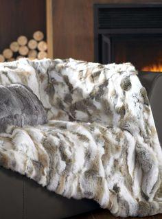 Rabbit fur throw 130 x 150 cm - Throws | Simons