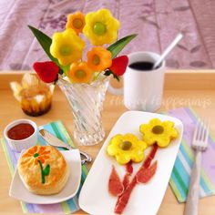 Flowerful breakfast for Mom. From Hungry Happenings.