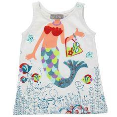 Bóboli - Vestido de tirantes para la playa / Girls beach dress  www.kidsandchic.com/girl-beach-dress-boboli.html  #girlsswimwear #swimwear #bathingsuit #bikini #beach #summer #kids #kidsfashion #trendychildren #verano #playa #niñas #modainfantil #ropainfantil