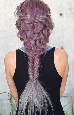 Pink mermaid braid.