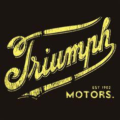 Vintage Triumph Motorcycles Logo