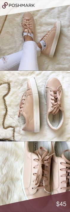 """• Topshop Platform Sneakers • Stay looking trendy with these mauve dusty rose pink sneakers by Topshop. They have a 1"""" platform and soo comfy! Lightly used once, no box. Size UK 38 = US 8.   Complete this look with the distressed JBrand skinny jeans available in my Posh closet ✨  • Ask all questions prior to purchase • Bundle & save  • Feel free to make your best offer! Topshop Shoes Sneakers"""