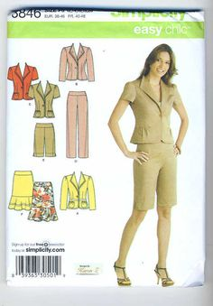 Simplicity 3846 Misses Pants or City Shorts by Noahslady4Patterns