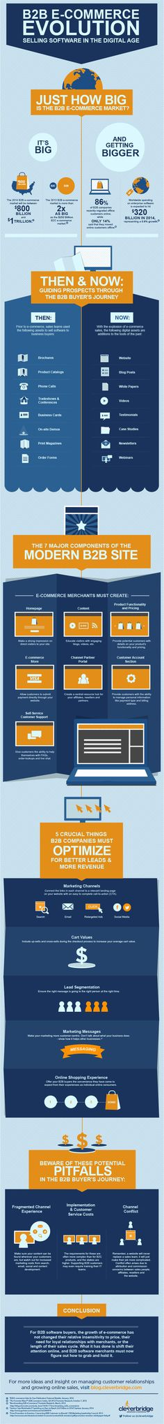 B2B ECommerce Evolution Infographic