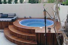 Hot Tub Garden, Hot Tub Backyard, Backyard Patio, Whirlpool Deck, Ideas De Piscina, Hot Tub Surround, Tub Cover, Jacuzzi Outdoor, Inground Hot Tub