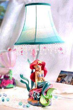 Disney Little Mermaid Lamp Mermaid Lamp, Mermaid Room, Mermaid Bathroom, Little Mermaid Nursery, The Little Mermaid, Cute Mermaid, Baby Mermaid, Girls Bedroom, Bedroom Ideas