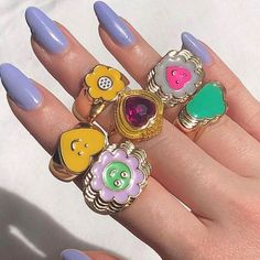 Cheap Jewelry, Cute Jewelry, Gold Jewelry, Women Jewelry, Jewelery, Love Smiley, Aesthetic Rings, Engagement Rings Couple, Chunky Rings