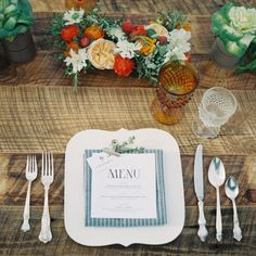farm-to-table-rustic-wedding.... love these unique plates. They make the whole place setting!