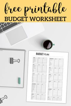 free printable monthly budget worksheet organization pinterest