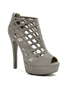 G by GUESS Women's Chentel Wild Dove Suede Platform 9 M ** Additional details at the pin image, click it  : Strappy sandals