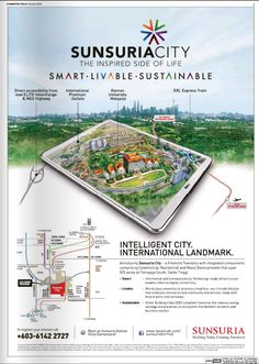 #sunsuriacity Real Estate Advertising, Real Estate Ads, Marketing And Advertising, Graphic Design Layouts, Graphic Design Posters, Layout Design, Property Ad, Property Design, Brosure Design