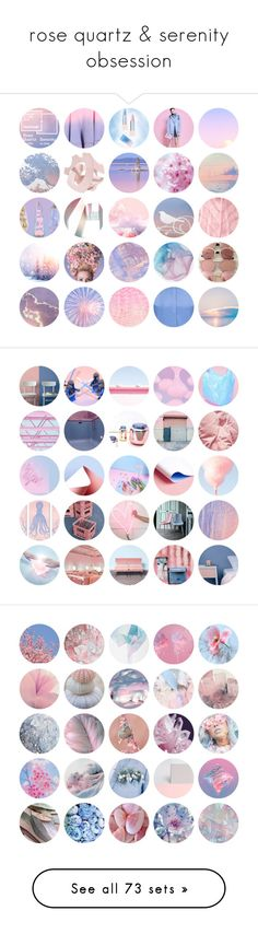 """""""rose quartz & serenity obsession"""" by deelahunt ❤ liked on Polyvore featuring serenity, rosequartz, pantone, pantone2016, art, moodboard, Diane James, CC SKYE, Clinique and Royal Albert"""