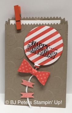 As an Independant Stampin' Up! demonstrator, I love to share my passion for creativity and fun by creating scrapbook pages, cards, home decor and giftables. Pretty Cards, Cute Cards, Scrapbook Cards, Scrapbooking, Treat Bags, Gift Bags, Creative Cards, Kids Cards, Greeting Cards Handmade