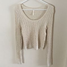 Free people sweater Super soft material. Fits like a medium but size large. Stretchy material. Free People Sweaters