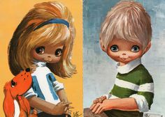 Set of two Vintage postcards 70s Lotta by CuteEyeCatchers on Etsy