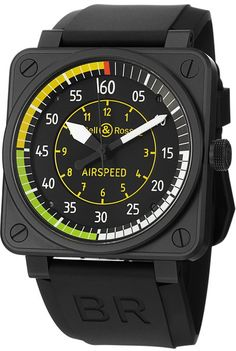 Bell & Ross Aviation Flight Instruments Mens Watch BR0192-AIRSPEED: Amazon.co.uk: Watches