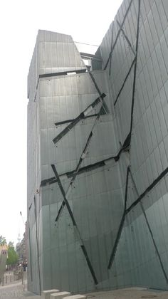 Berlin Jewish Museum by Daniel Libeskind - Side view of Facade