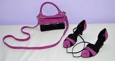 """Kabelka """"alá psaníčko"""" k botkám ze stejného materiálu - fuchsia velur + kostkovaná černá - exkluzivní kůže. Longchamp, Tote Bag, Bags, Fashion, Handbags, Moda, Fashion Styles, Totes, Fashion Illustrations"""