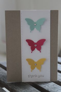 Paper Piercing, Stampin' Up! Elegant Butterfly Punch, Thank You card ~ Stamp With Rachel ~