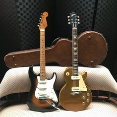 """29 Likes, 2 Comments - Martin Cilia (@martincilia) on Instagram: """"1954 was a good year and these are fine examples. #gibsonlespaul #fenderstratocaster #vintageguitar…"""""""