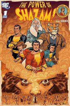 """The Power of Shazam by Evan """"Doc"""" Shaner Marvel And Dc Characters, Comic Book Characters, Comic Book Heroes, Comic Character, Comic Books Art, Mr Marvel, Original Captain Marvel, Captain Marvel Shazam, Dc Comics Collection"""