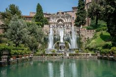 The fountains and pools in the garden of Villa d'Este, a UNESCO World Heritage Site in Tivoli, ITaly