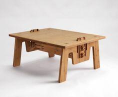 Cliclounge table bamboo Pelidesign