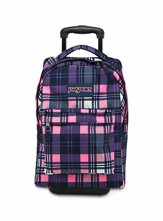 This backpack is called the Jansport Big Student Backpack. The one featured here is called ' Pink Pansy Preston Plaid.' This is a great bag for a child who is going off to college and will need a backpack that can hold a lot of books. Cute Backpacks, Girl Backpacks, Jansport Backpack, Laptop Backpack, Backpacks For College Girl, College Girls, Backpack With Wheels, White Backpack, Best Travel Backpack