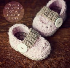 Instant download  Crochet PATTERN baby booties by monpetitviolon, $4.99