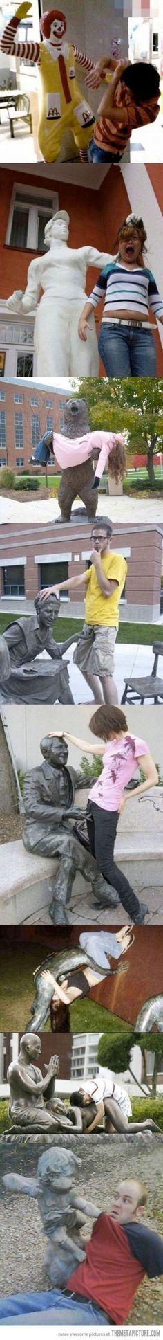 cheeky lecherous statues