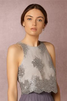 BHLDN Bea Top & Louise Tulle Skirt in  Bridesmaids View All Dresses at BHLDN