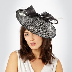 7b6d3fb4 Dark Gray saucer hat £45.00 J By Jasper Conran, Bow Tops, White Feathers