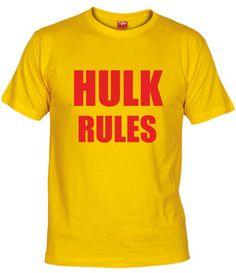 Camiseta Hulk Rules, Camisetas Series De Los 90, Camisetas Television, Fanisetas, Camiseta de Hulk Hogan. Hulk Rules, Camiseta que rompía en los inicios de los combates de Pressing Catch.