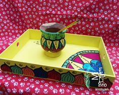 Diy Furniture Making, Star Coloring Pages, Diy Diwali Decorations, Posca Art, Diwali Diy, Painted Trays, Decoupage Art, Wooden Decor, Diy Box