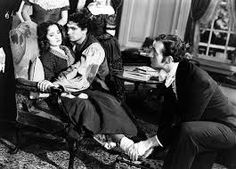 Merle Oberon, Laurence Olivier and David Niven  in Wuthering Heights 1939