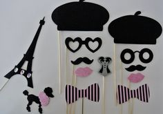 Parisian Inspired Wedding Photo booth props by weddingphotobooth, $36.00