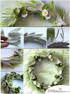 """<input class=""""jpibfi"""" type=""""hidden"""" >Spring is here! Let's make some egg carton crafts for Easter and Spring decoration. Egg carton craft is a fun and great way to recycle paper pulp egg cartons. I am excited to feature this nice DIY project to make an… Soda Can Flowers, Paper Flowers, Easter Crafts, Fun Crafts, Amazing Crafts, Egg Carton Crafts, Diy Ostern, Dollar Store Crafts, Easter Wreaths"""