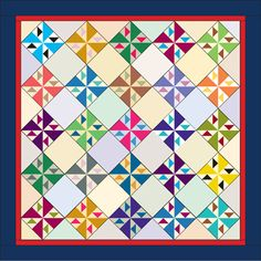 Pinwheel Fancy is the Bonnie Hunter Addicted to Scraps block from Quiltmaker's Jan/Feb '15 issue. Free quilt pattern for this scrappy beauty at quiltmaker.com.