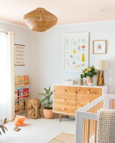 Pink ceiling: When in doubt, paint it pink! We've partnered with Behr to show you how we made over this nursery by painting the ceiling pink! We'll be…