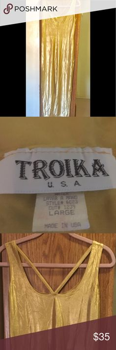 Troika Golden Stretch Gown Dressy Shape hugging!! Dressy Gown Troika Dresses Maxi
