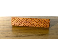 Patterned Tie Bars  Laser Cut  Exotic Wood  by VenutoWoodWork