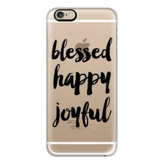iPhone 6 Plus/6/5/5s/5c Case - Blessed and happy ($40) ❤ liked on Polyvore featuring accessories, tech accessories, phone cases, capas de iphone, iphone, technology, iphone case, apple iphone cases and iphone cover case