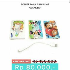 Powerbank Samsung Karakter Kapasitas 72.000 mah  Spesifikasi: - Kapasitas: 72.000mAh - Input: 5.0V - 2.0A - Output1: 5.0V - 1.0A - 1 buah kabel konektor - 1 box Tersedia banyak karakter kartun lucu . Harga :80.000 Order: Line @ jakartakomputer  Whatsapp : 08787 8775 832  WAJIB menggunakan format order  nama : no hp : alamat lengkap : pesanan :  Tidak pakai format akan slow response!  #Powerbank #Samsung #Karakter #72.000mah #jktkom #jakartakomputer #imbisnis #carireseller #diskon…