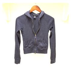 A&F Navy Light Cotton Jacket Cute little jacket from Abercrombie & Fitch. Super comfortable! Zipper up the front. Pockets. Small Abercrombie & Fitch Jackets & Coats