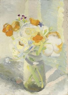 View FLOWERS IN A JAM JAR by Winifred Nicholson on artnet. Browse upcoming and past auction lots by Winifred Nicholson. Art And Illustration, Illustrations, Art Floral, Winifred Nicholson, Art Beauté, Paintings I Love, Flower Paintings, Still Life Art, Flower Art