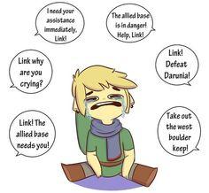 Sad Link #HyruleWarriors