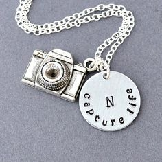 camera necklace Personalized initial camera necklace by JewelMango, $23.00